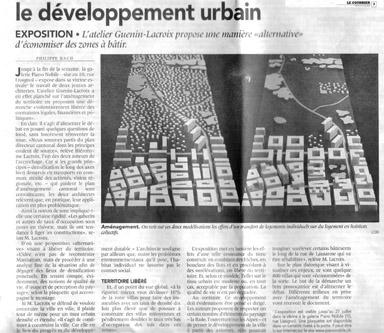 Architecte Geneve - Deux architectes revisitent le développement urbain