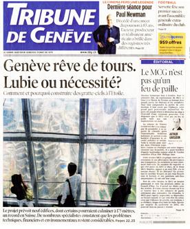 Architecte Geneve - Genève rêve de tours