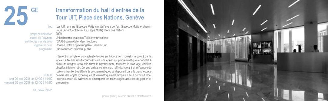 Architecte Geneve - 047 UIT / SIA