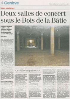 Architecte Geneve - 068 Salles de Concert à la Bâtie