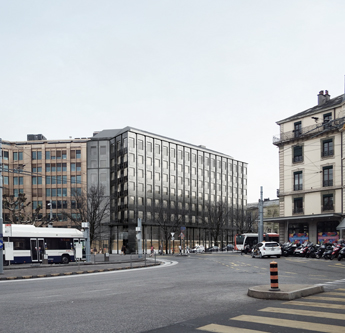 Architecte Geneve - 104 Rénovation de façade Cours de Rive