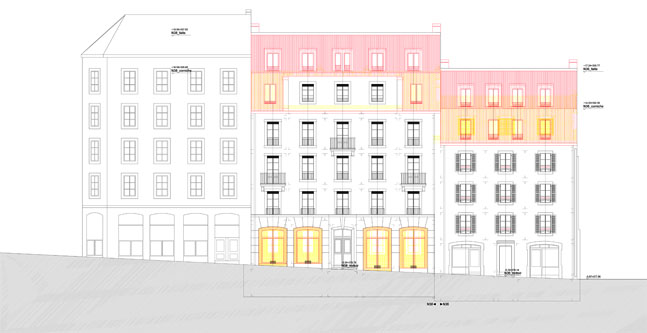 guenin architecte Pâquis - Genève / CH  Rénovation et surélévation du 36-38 Navigation