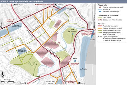 guenin architecte Ville de Lancy / CH Liaisons de mobilité douce