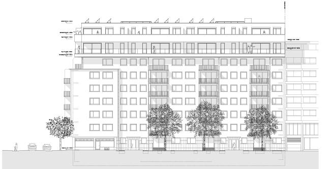 guenin architecte Genève / CH Rénovation et Surélévation Immeuble