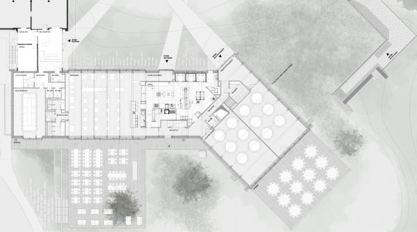 guenin architecte Onex / GE / CH Reconstruction du restaurant des Evaux