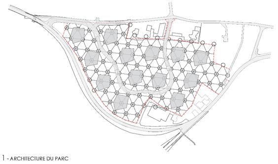 guenin architecte Düdingen / Fribourg Aménagement extérieur Briegli Parc