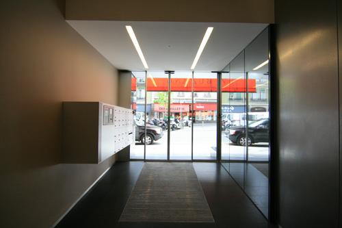 guenin architecte GE / CH Rénovation entrée et ascenseurs