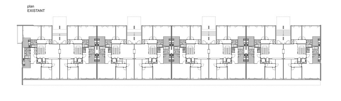 guenin architecte Vernier / GE / CH Rénovation et surélévation d'un immeuble des années 60