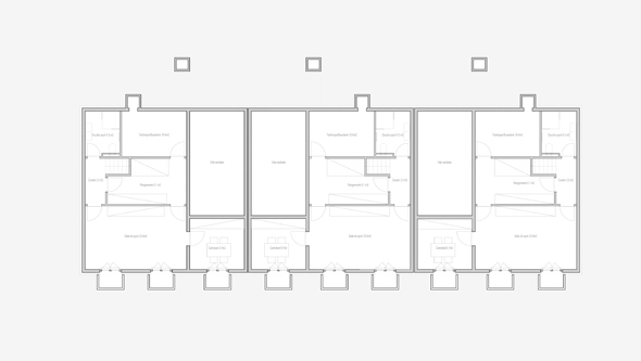 guenin architecte Meyrin - Genève Logements contigüs