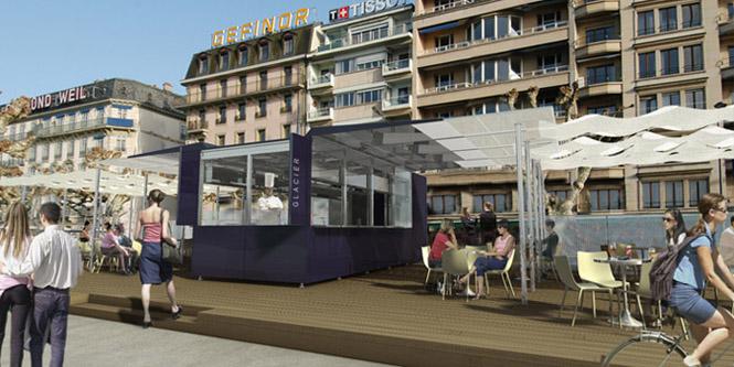 guenin architecte Genève / CH  Pavillons de vente modulable