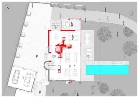 guenin architecte Cologny / CH Extension et transformation int. d'une villa