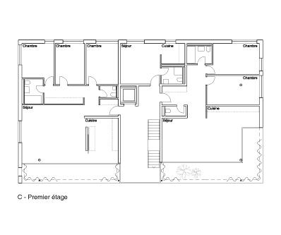 guenin architecte Vandeouvres / CH  Bâtiments de logements, Esplanade et Parking
