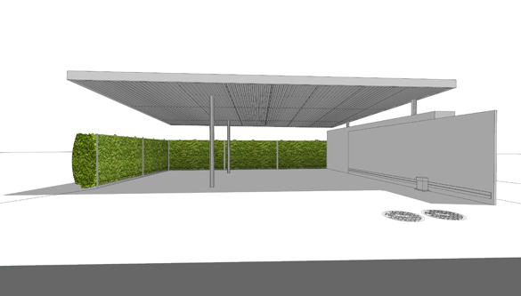 guenin architecte Corsier / CH Couvert à voiture