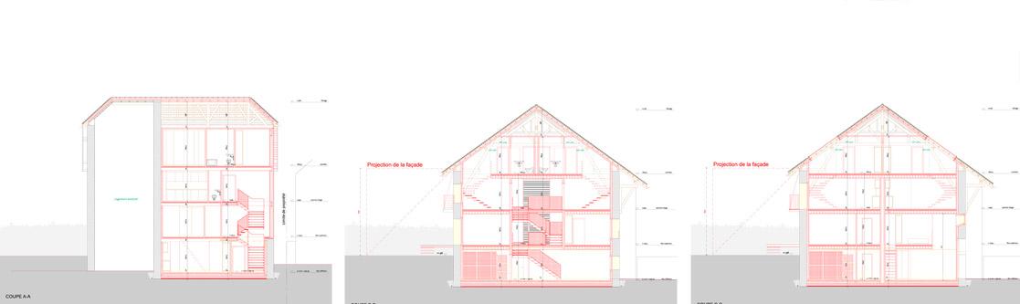 guenin architecte Meyrin / CH  Transformation d'une grange