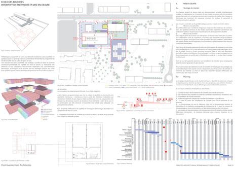 guenin architecte Meyrin / CH Rénovation de l'école des Boudines