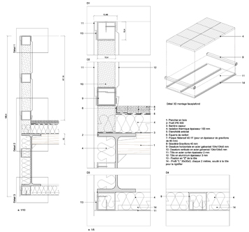 guenin architecte La Bâtie - Genève / CH Salle de Concert
